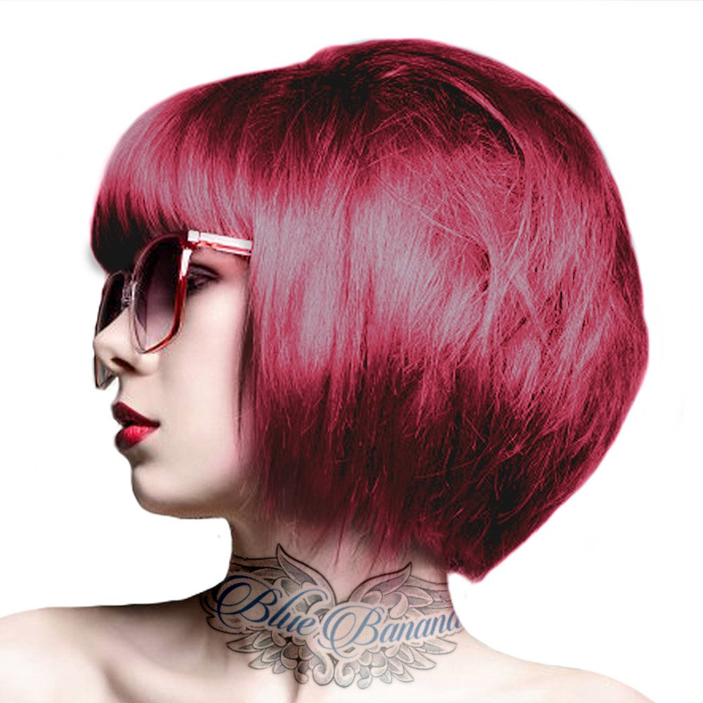 2 crazy color semi permanent hair colour dye cream by renbow 100ml ruby rouge 66 - Coloration Semi Permanente Rouge