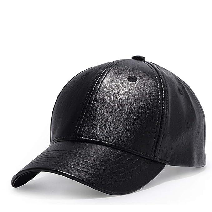 Amazon.com: Kerr Kellogg Solid Black Leather Womens Cap Adult Baseball Cap Gorras Casual Snapback Hat for Men Women Baseball caps: Clothing