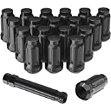 """YITAMOTOR Lug Nuts 12x1.5 Acorn, m12x1.5 Closed End Bulge Acorn Wheel Lug Nuts Conical Seat 1.38"""" Tall Compatible for…"""