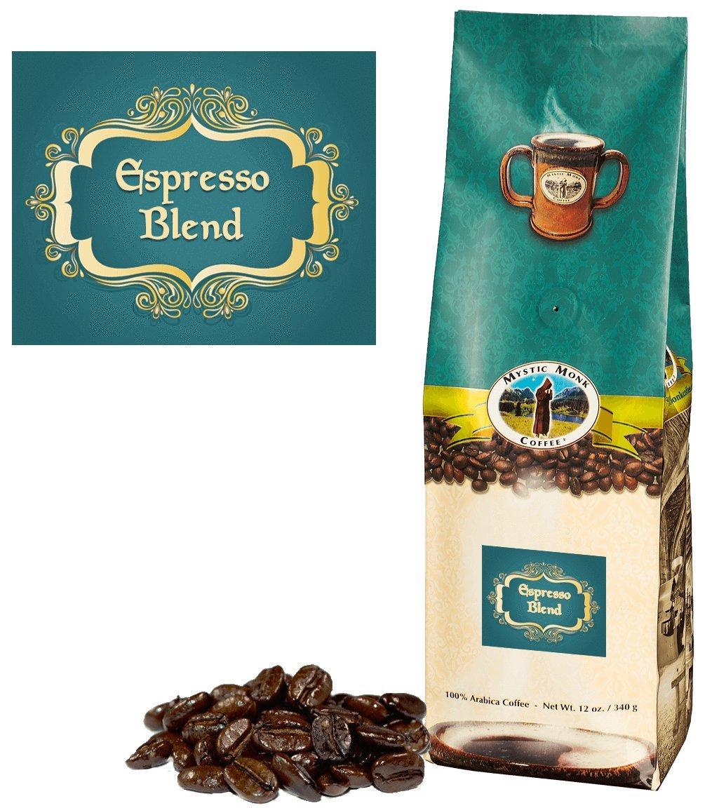 Mystic Monk Coffee: Espresso Blend Whole Bean