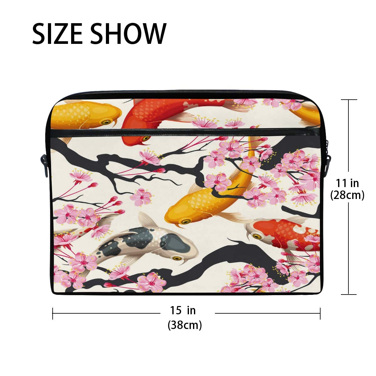 ca8c3b7ba3e9 Amazon.com: WXLIFE Japanese Koi Fish Sakura Flower 13 13.3 14 Inch ...