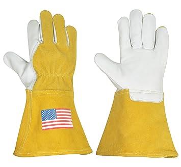 Aceite de fuego retardante de calor de soldadura Tig Mig soldador soldadura Industrial guantes: Amazon.es: Bricolaje y herramientas