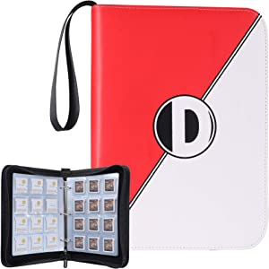 D DACCKIT Game Card Holder Case Compatible with Nintendo 3DS 2DS DS Cartridges - Holds Up to 180 Games, Games Collectors Album with 15 Premium Pages - Red White