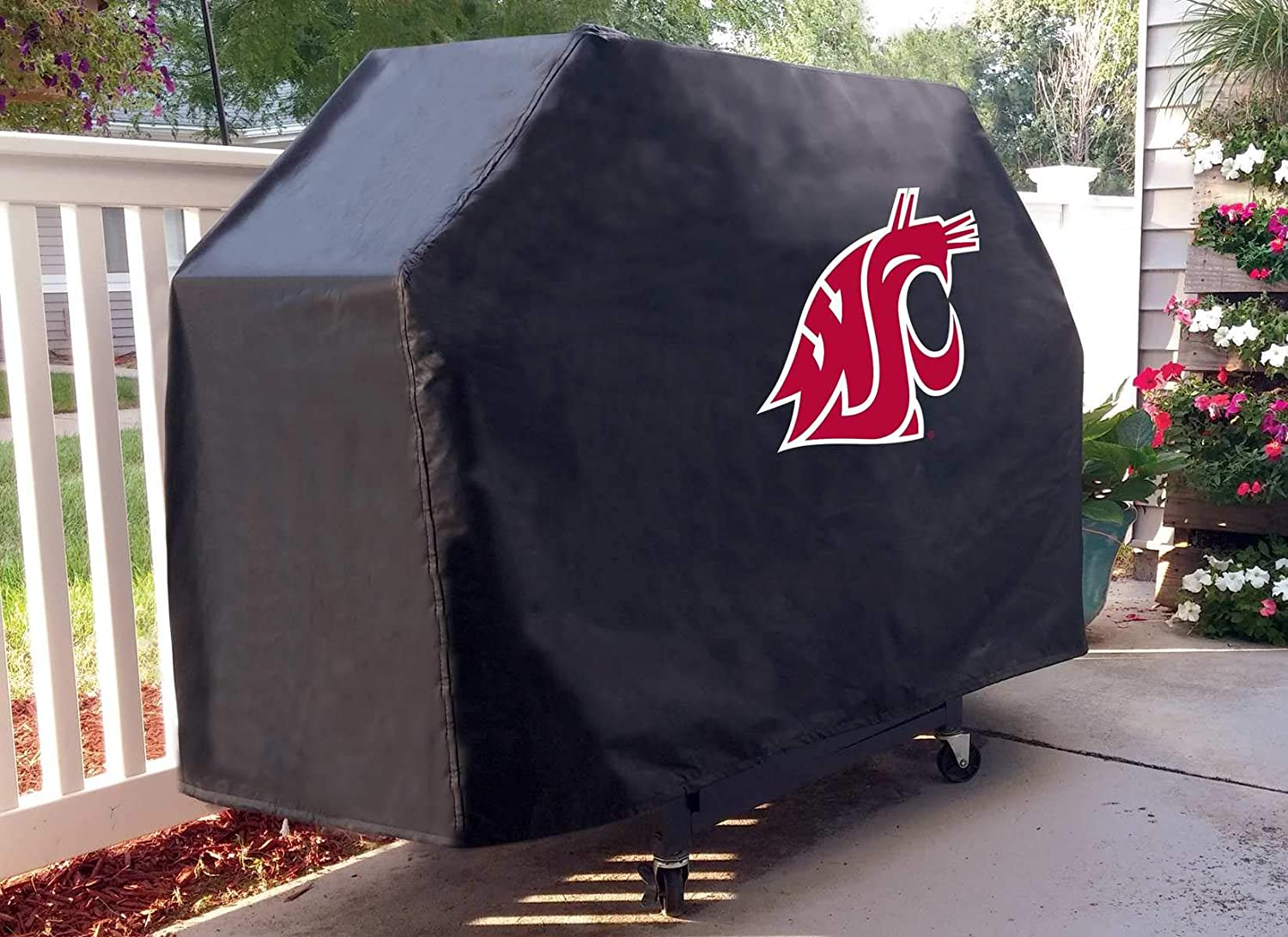 Holland Bar Stool Co Washington State Cougars HBS Black Outdoor Heavy Duty Vinyl BBQ Grill Cover
