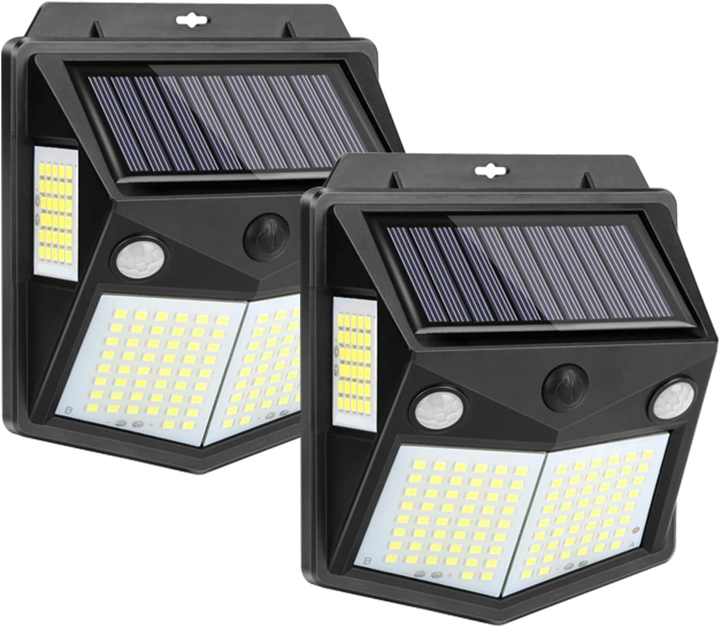 Amazon Com Kaulsoue 160 Led Solar Motion Sensor Light Outdoor 2 Sensor Outside Waterproof Solar Powered Security Wall Lights For Yard Garden Deck Patio 2 Pack Home Improvement