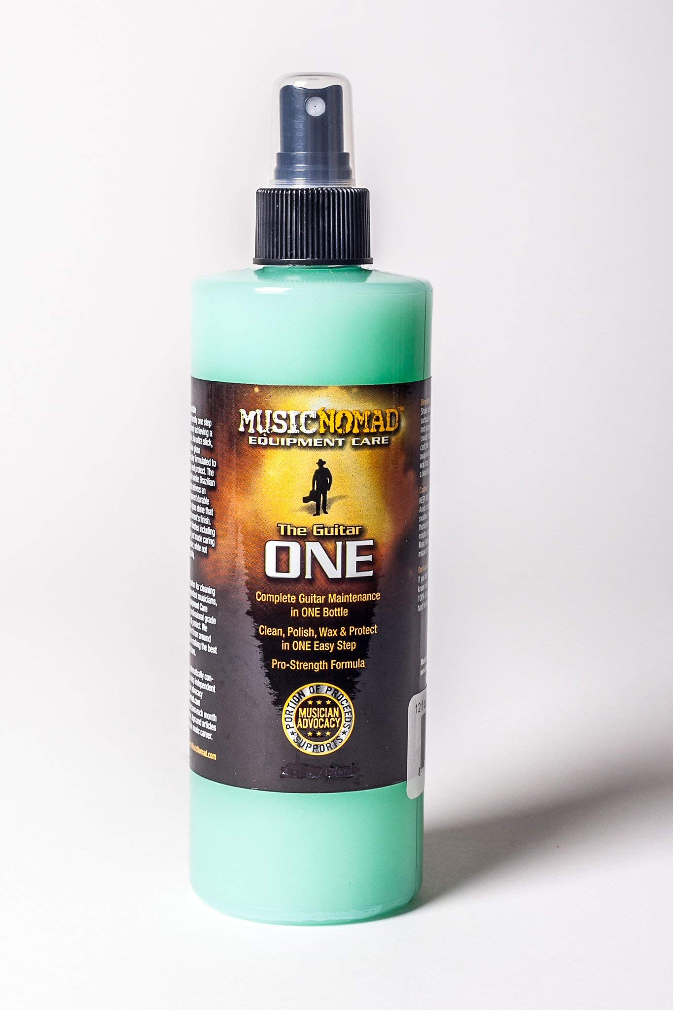 Music Nomad MN150 The Guitar One 12 oz.Tech Size - All in 1 Cleaner, Polish & Wax w/Bonus RIS Pick (x1) 857047002180