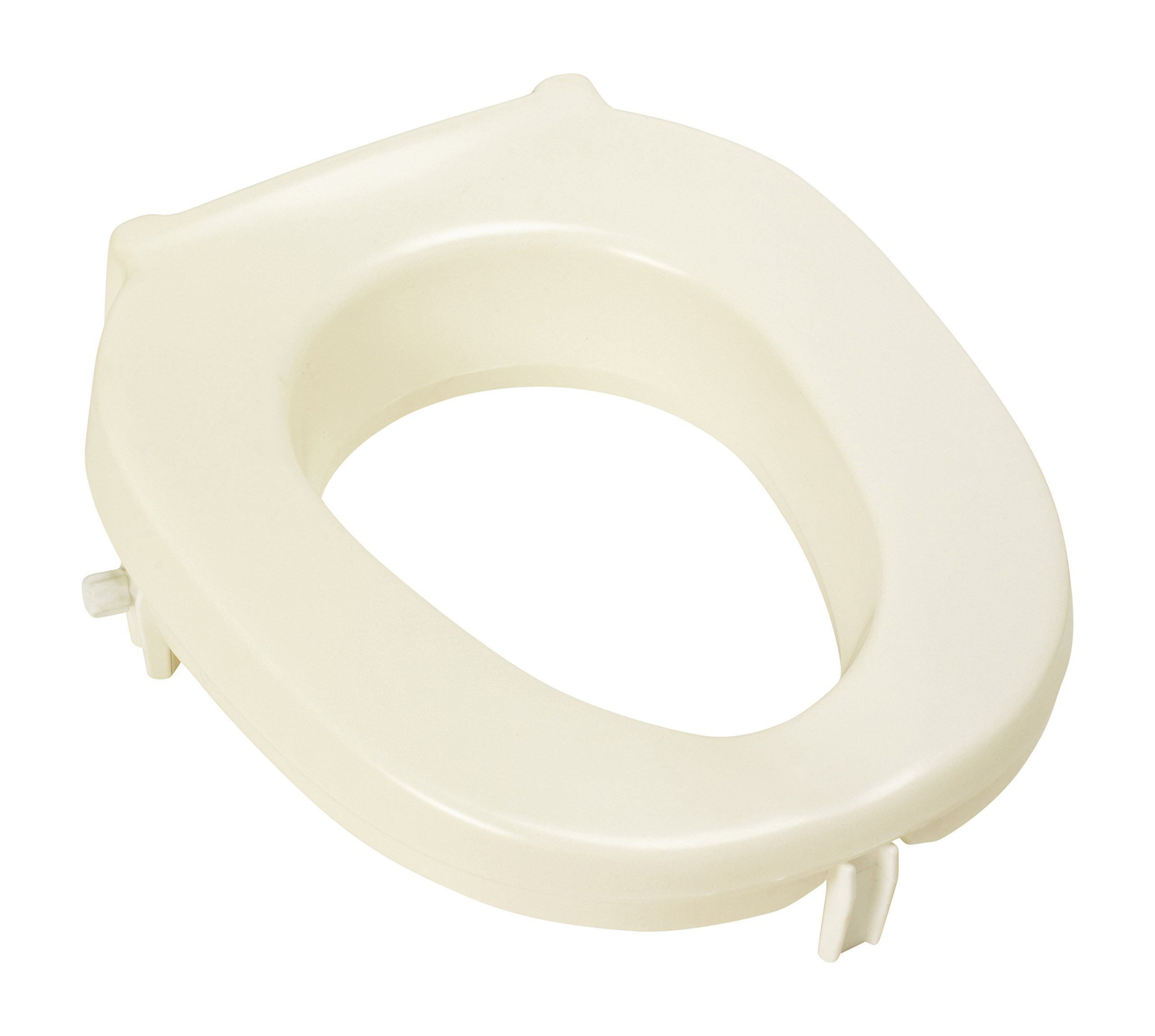 Homecraft Taunton Raised Toilet Seat, 5 cm (2 in.) to 15 cm (6 in.), Limited Mobility, Forward Sloping, Supports 152 kg, Lowering & Raising Toilet Seat Assist (Eligible for VAT Relief in The UK) by Homecraft
