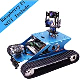 Yahboom Professional Raspberry Pi Tank Smart Robot Kit WiFi Wireless Video Programming Electronic DIY Robot Kit for Teens and Adults Compatible Pi 4B / 3B+(Raspberry Pi not Include)