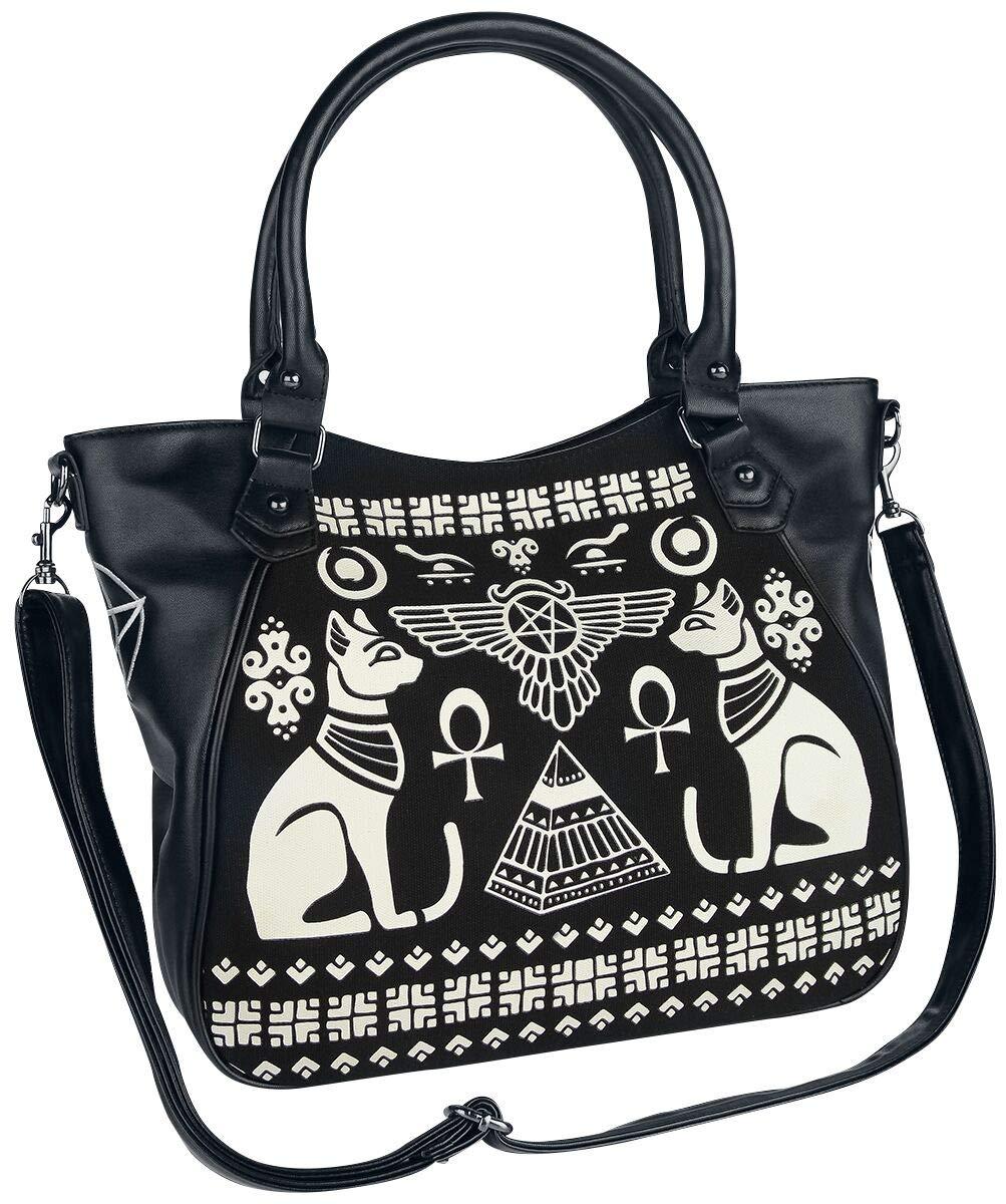 Banned Alternative Bastet Tote Handtasche schwarz