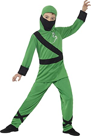Smiffys Disfraz de Asesino Ninja, Verde y Negro, con Capucha ...
