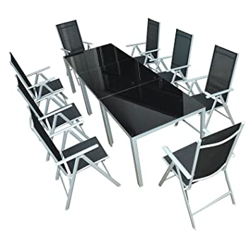 Amazon.de: Outsunny Gartenmöbel-Set Gartengarnitur Sitzgruppe Alu ...