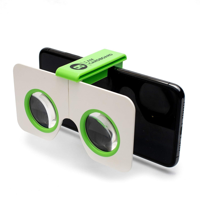 I AM Cardboard Visore VR smartphone Pocket 360 Mini I Migliori Dispositivi Realt/à Virtuale Ispirati al Cardboard Google V2 Blue VR Headsets |Accessori Cellulare per Regali Originali
