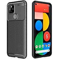 HEYUS for Google Pixel 5 Case, Protective Carbon Fiber Case Cover Compatible with Google Pixel 5 2020 Lightweight Ultra…