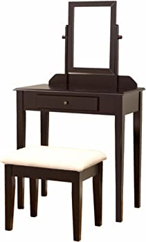 3-Pc Frenchi Furniture Wood Vanity Set