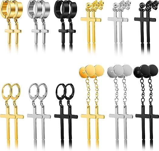 Glossy Cross Pendants Charms Necklace Earrings Bracelets Jewelry supplies #42