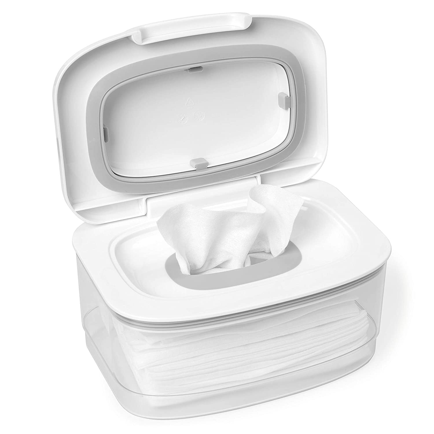 Skip Hop Wipes Dispenser with Moisture Seal Secure Lid, White