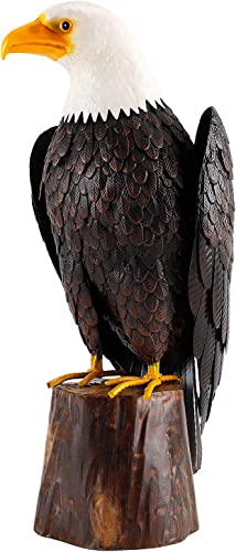 chisheen Bald Eagle Outdoor Metal Yard Art Statue and Sculpture