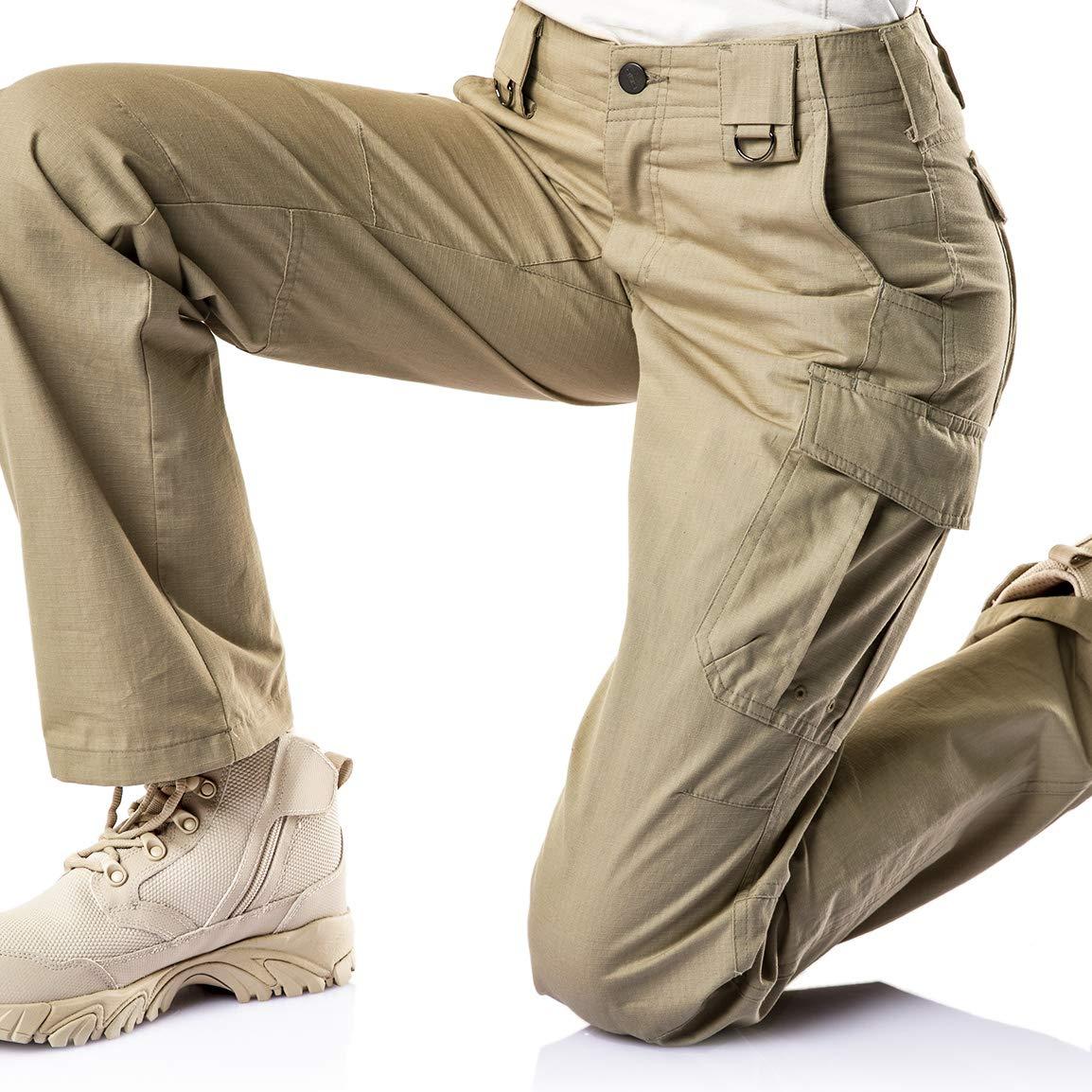 CQR CQ-WFP510-KHK_14/Long Women's Flex Stretch Tactical Long Pants Lightweight EDC Assault Cargo wiith Multi Pockets WFP510 by CQR (Image #8)