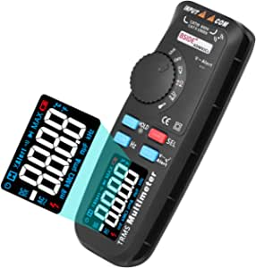 BSIDE ADM92CL True-RMS Digital Multimeter Color Display 6000 Counts Auto-Ranging TRMS Pocket DMM Live Wire Check V-Alert Tester with Side Slot and Back Clip