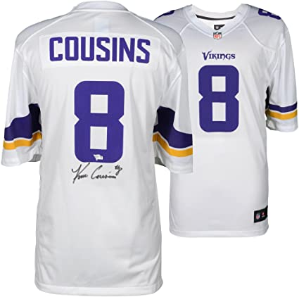 premium selection 3a669 61c93 Kirk Cousins Minnesota Vikings Autographed White Nike Game ...