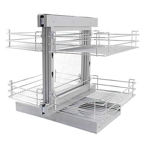 Cestelli Estraibili Per Cucina Ad Angolo.Kukoo 4 Cestelli In Acciaio Inossidabile Per Mobile Ad Angolo
