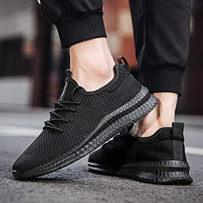 MOERDENG Walking Shoes for Mens Sports Fashion Slip on Sneakers Outdoor Running Fitness Jogging Athletic Road Casual Footwear