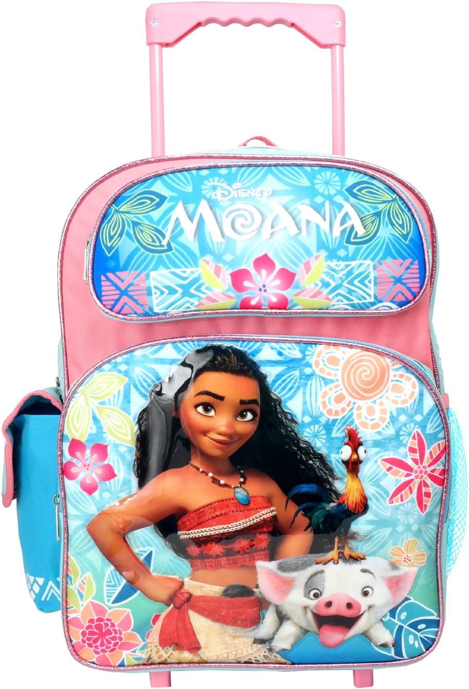 "New Disney Moana 12/"" Small School Rolling Backpack"