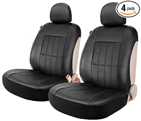 Wondrous Faux Leather Sideless Seat Covers For Car Truck Suv 2 Front Seats Black With Headrest Covers Leader Accessories Andrewgaddart Wooden Chair Designs For Living Room Andrewgaddartcom