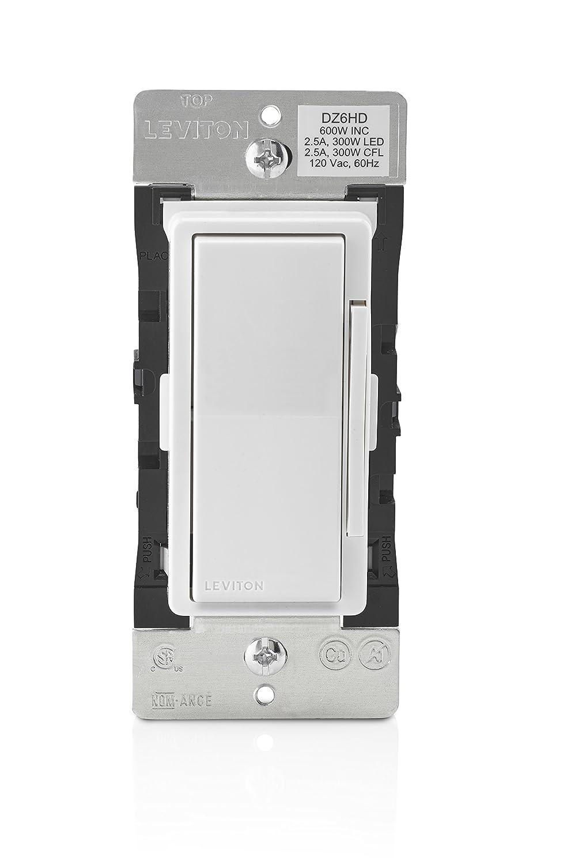 Leviton DZ6HD-1BZ Decora Smart 600W Dimmer with Z-Wave Plus ...