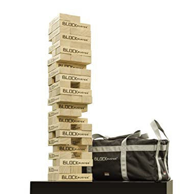 Seville Classics Premium Giant Block Tower Game with Heavy-Duty Storage Bag