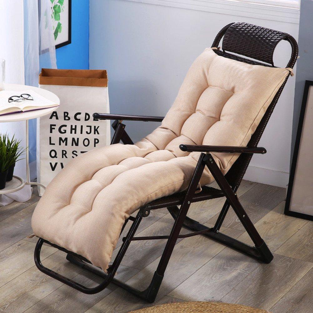YQ WHJB Back Cushion Set,High Back Chair Cushion,Rocking Chair Lounge Chair Thicken Nonslip Firm Back Pain Seat Pad Chair Cushion-Beige 48x120cm(19x47inch)