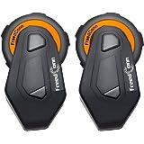 Freedconn Auriculares Intercomunicador Moto Bluetooth para Motocicletas, intercomunicador Casco Moto 6 Conductores Intercomunicador Grupo Communicator