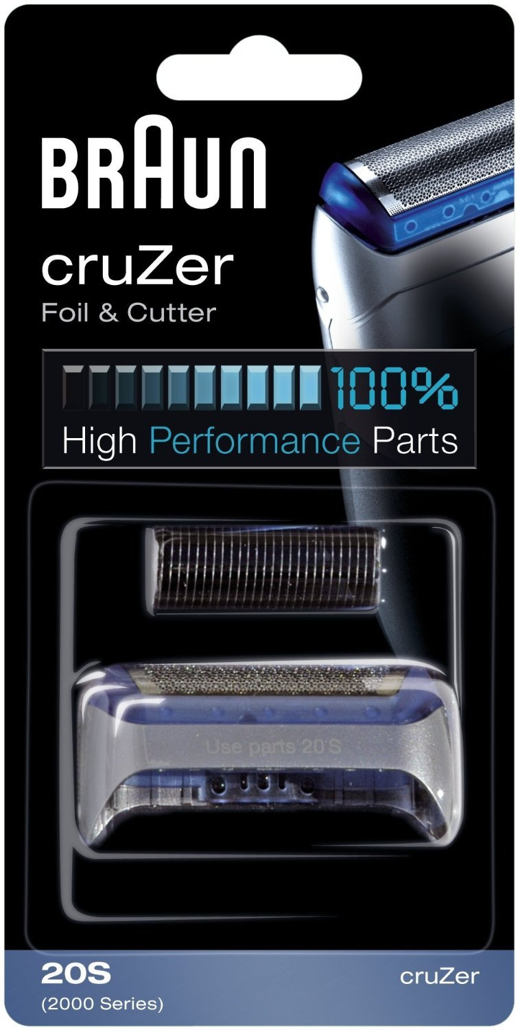 Braun CruZer Replacement Foil & Cutter (Fits CruZer 1, 2, 3, 4, 1000, 2000 Series)