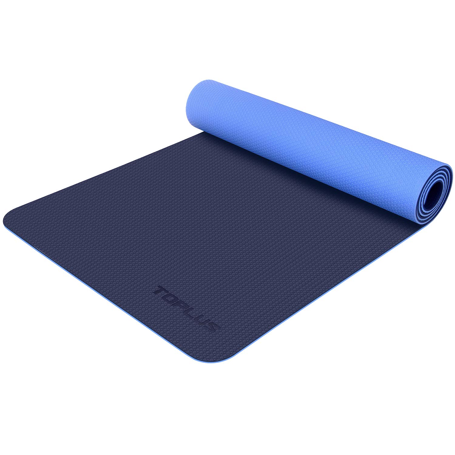 TOPLUS Yoga Mat- Premium 6mm Extra Thick Yoga Mat Eco Friendly Non-Slip Exercise & Fitness Mat with Carrying Strap for All Type of Yoga, Pilates and Floor Exercises, Texture Upgraded Series UP-01