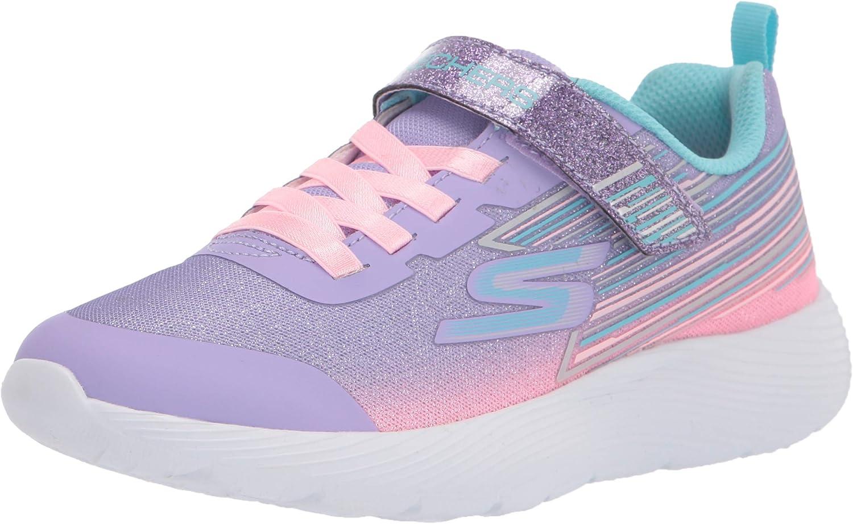 Skechers girls Skechers Sport, Skechers Light Weight, Skechers Machine Washable Sneaker, Lavendar/Multi, 10.5 Little Kid US