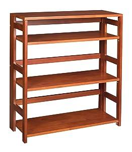 """Niche Flip Flop Folding Bookcase, 34"""", Autumn Cherry"""