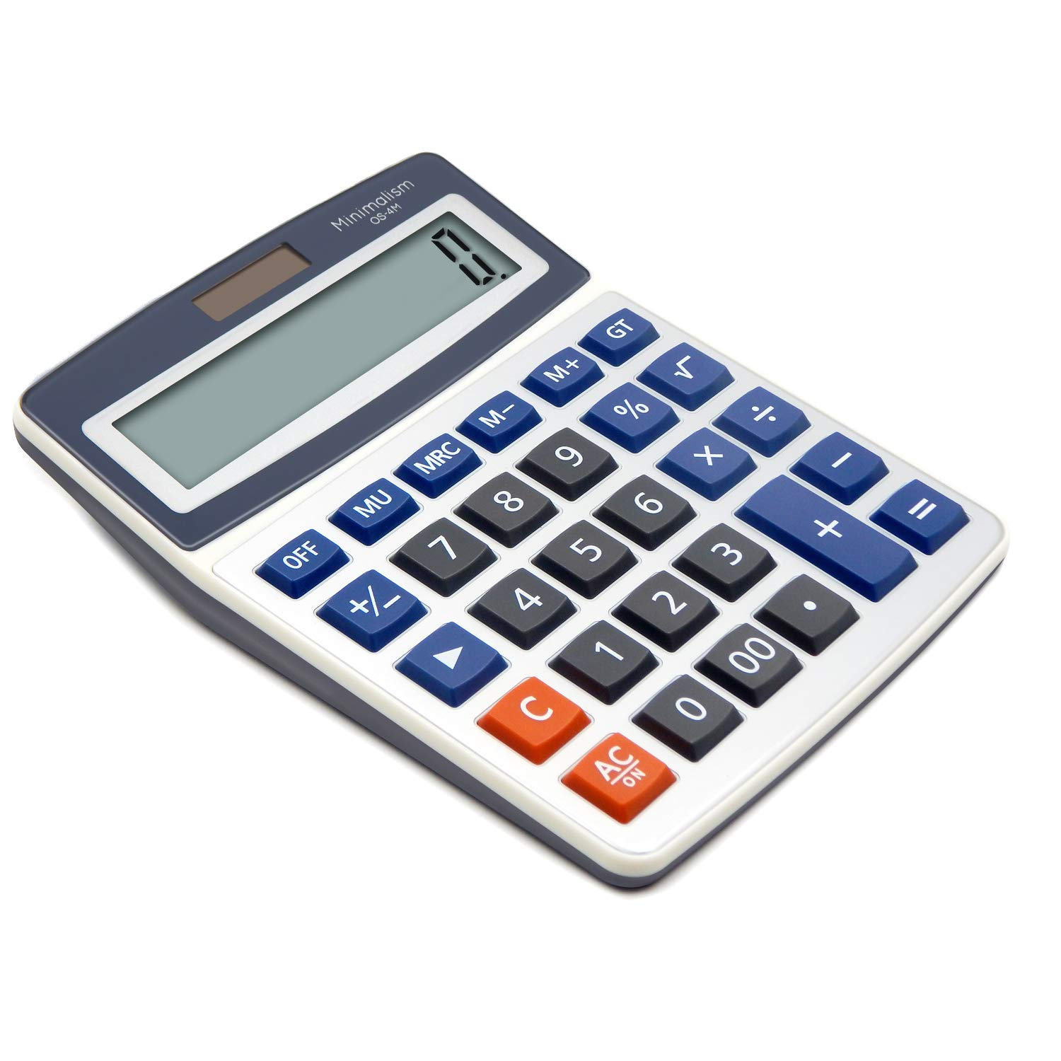 OFFIDIX Basic Office Calculators,Solar and Battery Dual Power Electronic Calculator Portable Large LCD Display Calculator Big Numbers Desktop Calculator (Big Size) by OFFIDIX