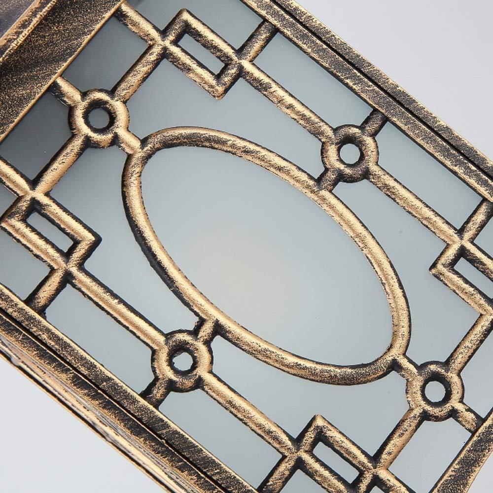 Fofofs Ara/ña for exteriores Impermeable Cadena ajustable Luz L/ámpara de cristal Linterna Colgante Europeo Retro Aluminio exterior L/ámpara colgante de metal for Villa Patio Gazebo Corredor Porche IP54