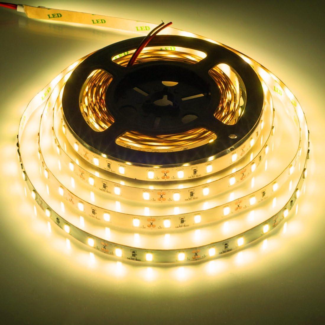 5M//16.4FT 3528 5050 5630 SMD Waterproof 300LED Strip Light String Ribbon Tape