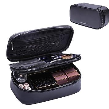 Amazon.com: Neceser de maquillaje para mujer, color negro ...