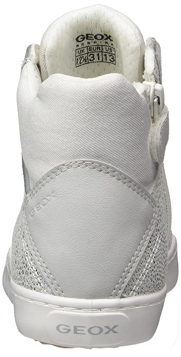 Amazon.com | Geox - J82D5H - J82D5H007DWC1355 - Color: Silver-White - Size: 1.0 | Sneakers