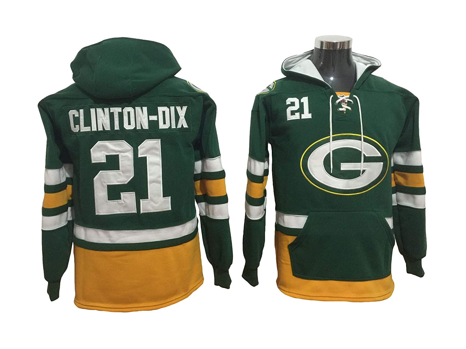 low priced de562 fc84d Fan Apparel Clinton Dix Packers Football Hoodie Jersey at ...