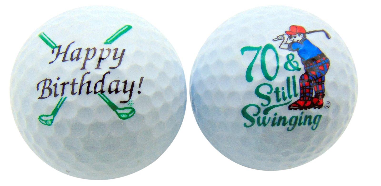 Westman Works 70th Birthday Golf Balls Set of 2 Golf Ball Golfer Gift Pack by Westman Works