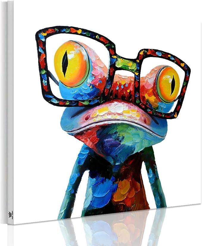 Amazon.co.jp: アートパネル おしゃれ 北欧 カラのアマガエル 壁飾り ...