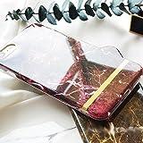 iPhone7 6s 6 ケース カバー マーブル 大理石 天然石 ゴールド ボーダー 高級 おしゃれ かわいい 人気 ペア【 保護フィルム付き 】【 オンライン版iPhoneカメラ講座付】 .ca1360-7-wrd