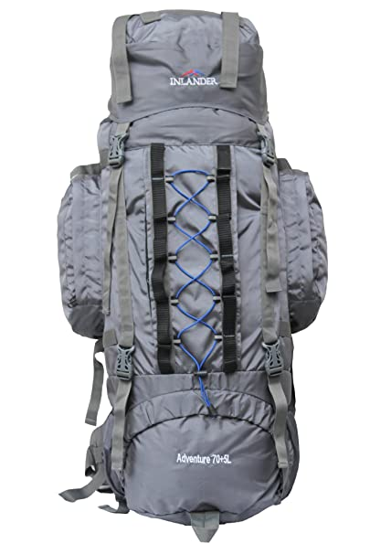 Inlander A2ZIL2007GYRS Polyester Rucksack with Rain Cover, Large (Grey) 05a5753f2a