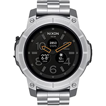 0d277a23b71 Nixon Mission SS Silver Watch A1216130 Man Steel  Amazon.co.uk  Watches