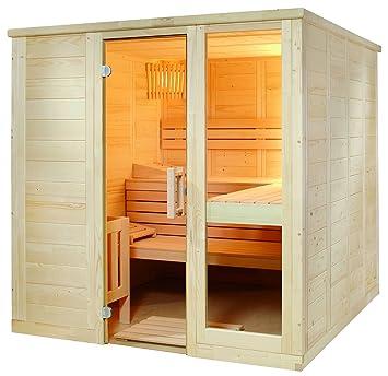 Komfort Small 208x158x204cm Sauna Saunakabine Fichtenkabine