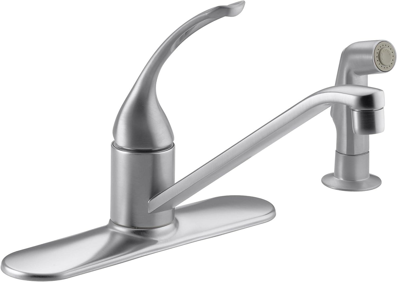 Kohler K 15172 Fl G Coralais Single Control Kitchen Sink Faucet Brushed Chrome Touch On Kitchen Sink Faucets Amazon Com