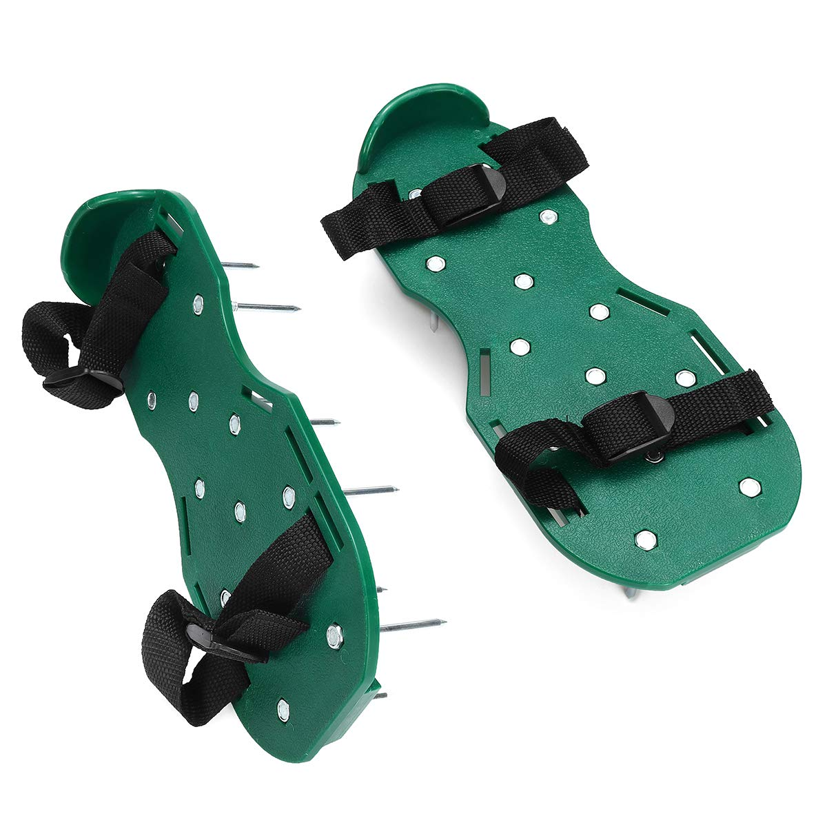 CocinaCo Lawn Aerator Shoes Spiked Sandals Aerating Soil Sandals Adjustable with Accessories